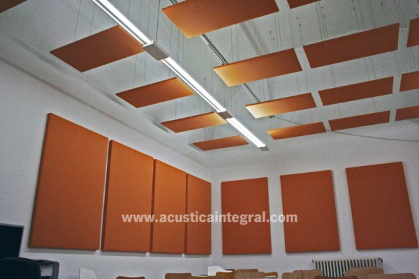 Absorbent high decorative treatments level. Acoustic Cloud.