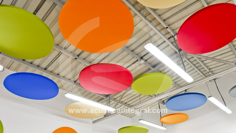 Decorative Sound Absorbing Circular Panels