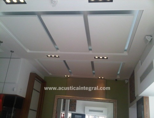 Acoustic Conditioning Panel in Restaurant