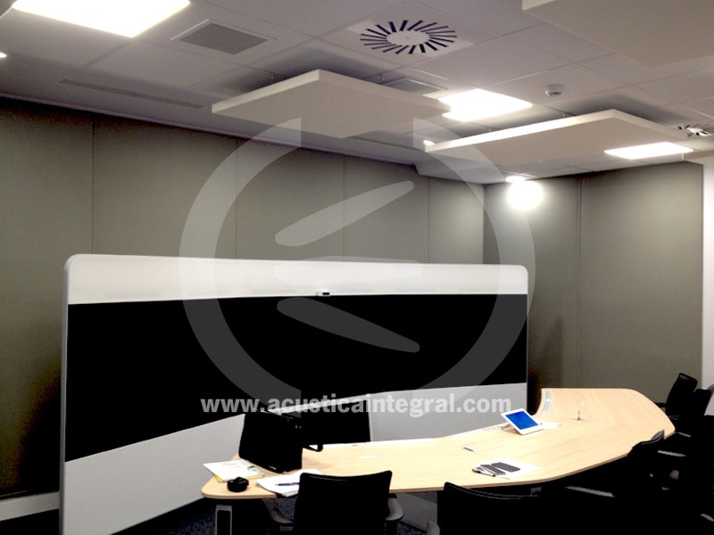 Acoustic treatment in Telepresence Room