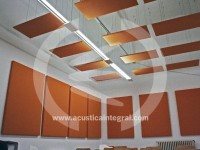Acoustic Absorbent treatment in classrooms and offices.