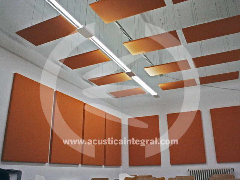 Acoustic Absorbent treatment in classrooms and offices