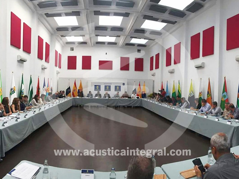 Acoustic treatment for multipurpose room –Town Council of Gran Canaria