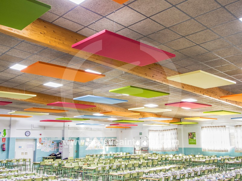 Acoustic islands in a school canteen